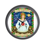 Lady Capricorn Wall Clock