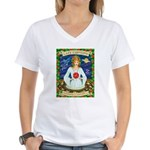 Lady Capricorn Women's V-Neck T-Shirt
