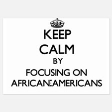 Keep Calm by focusing on African-Ameri Invitations