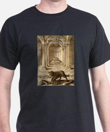 Wenceslas_Hollar_- Wolf and the Statue - Aesop - T