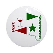 Pass the Port with this Ornament (Round)
