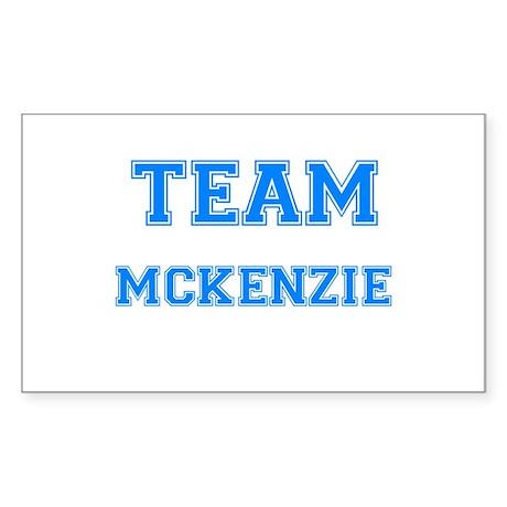 TEAM MCKENZIE Rectangle Sticker
