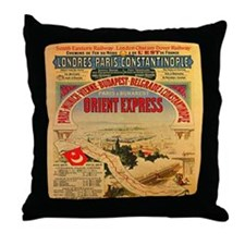 The Orient Express Throw Pillow