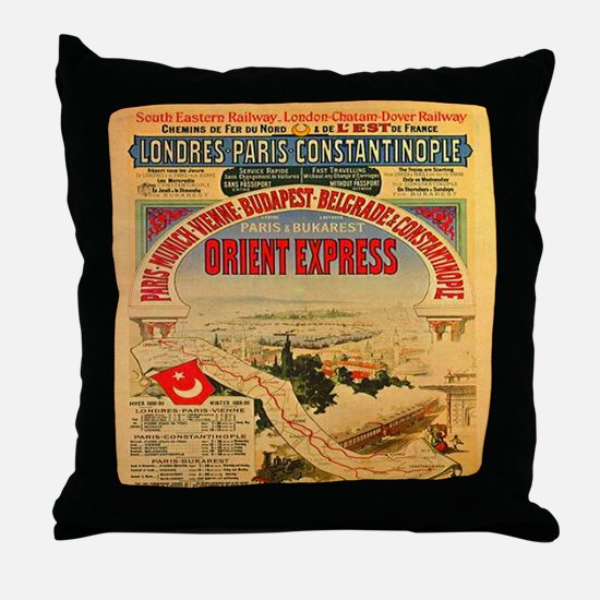The Orient Express Throw Pillow