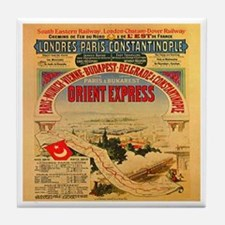 The Orient Express Tile Coaster