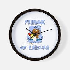 Prince of Leisure Wall Clock