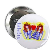 "Big Eyed Angels/2.25"" Button (10 pack)"