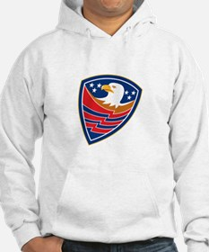 American Bald Eagle Head Flag Shield Retro Hoodie