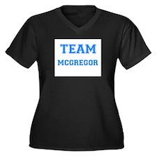 TEAM MCGREGOR Women's Plus Size V-Neck Dark T-Shir