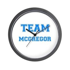TEAM MCGREGOR Wall Clock