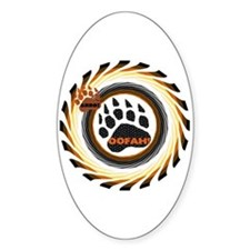 BEAR PRIDE COLORS-SPIRAL Oval Decal
