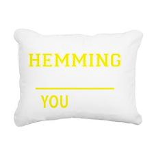 Cool Hems Rectangular Canvas Pillow