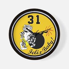 cat31.png Wall Clock