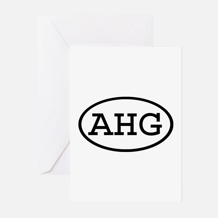 AHG Oval Greeting Cards (Pk of 10)