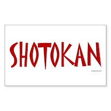 Shotokan Rectangle Decal
