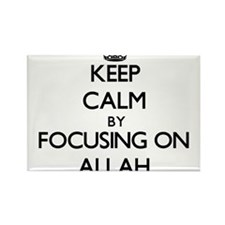 Keep Calm by focusing on Allah Magnets