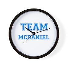 TEAM MCDANIEL Wall Clock