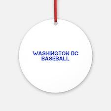 WASHINGTON DC baseball-cap blue Ornament (Round)