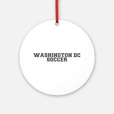 WASHINGTON DC soccer-fresh gray Ornament (Round)