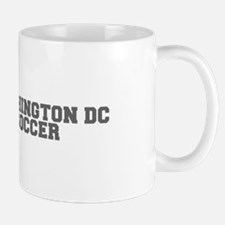 WASHINGTON DC soccer-fresh gray Mugs