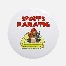Sports Fanatic Ornament (Round)