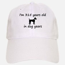 45 dog years black dog 2 Baseball Baseball Baseball Cap