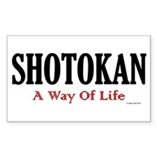 Shotokan A Way Of Life Rectangle Decal