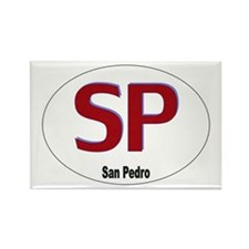 San Pedro (SP) Rectangle Magnet (10 pack)
