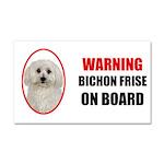 Bichon Frise On Board Car Magnet 20 x 12