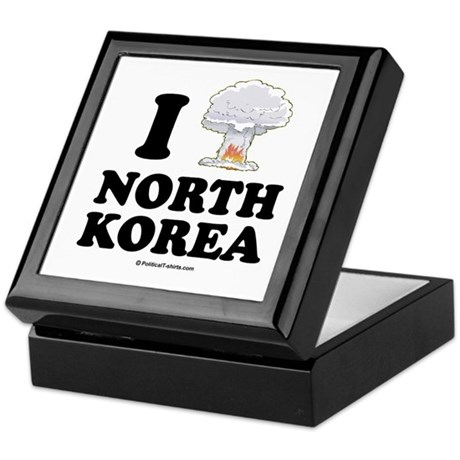 I (bomb) North Korea Keepsake Box
