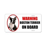 Boston Terrier On Board Aluminum License Plate