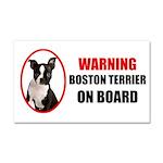 Boston Terrier On Board Car Magnet 20 x 12