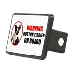 Boston Terrier On Board Rectangular Hitch Cover