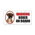 Boxer On Board Aluminum License Plate