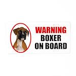 Boxer On Board Aluminum License Plate