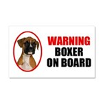 Boxer On Board Car Magnet 20 x 12