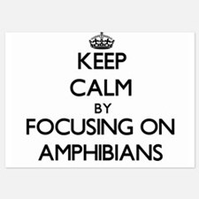 Keep Calm by focusing on Amphibians Invitations