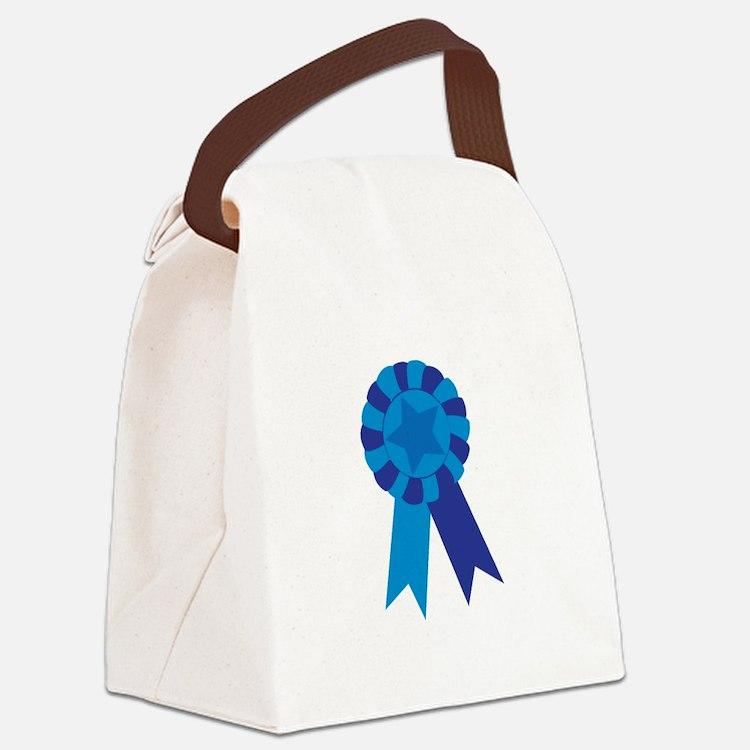 Blue Ribbon Canvas Lunch Bag