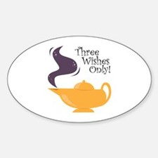 Three Wishes Only! Decal