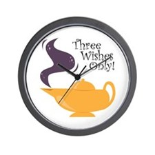 Three Wishes Only! Wall Clock