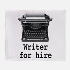 Writer for hire Throw Blanket