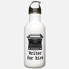 Writer for hire Water Bottle