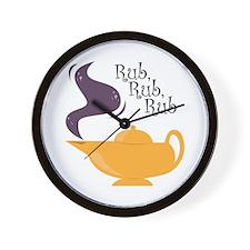 Rub Rub Rub Wall Clock