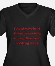 Hurt the one you love Women's Plus Size V-Neck Dar
