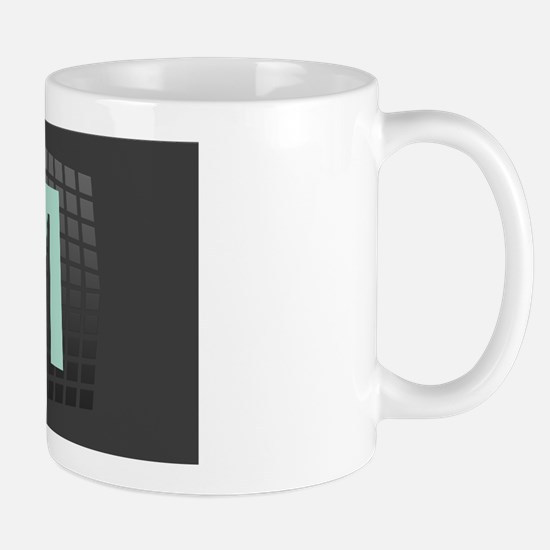 Custom Cool Mint Green Monogram Gradient Mug Mugs