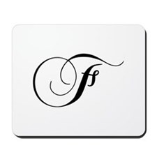 F-cho black Mousepad