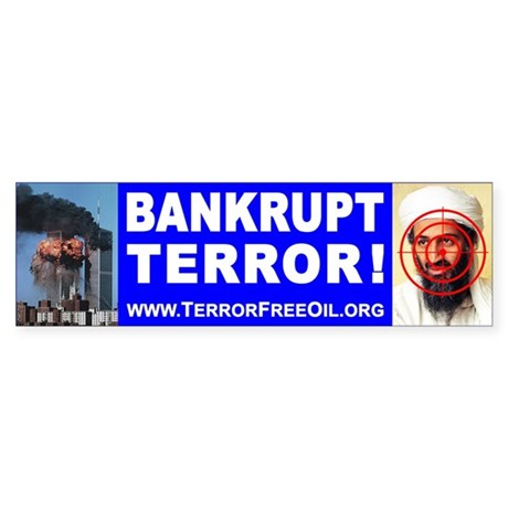 Terror-Free Oil Bumper Sticker