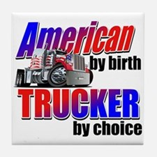 American Trucker Tile Coaster