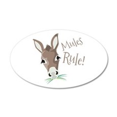 Mules Rule Wall Decal
