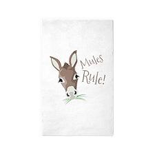 Mules Rule 3'x5' Area Rug